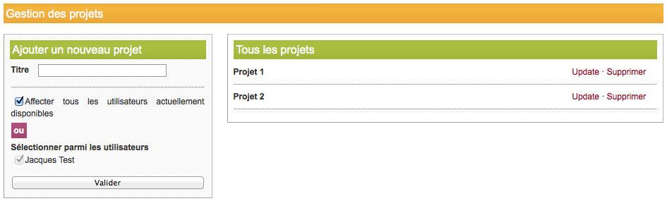 crm gestion des projets